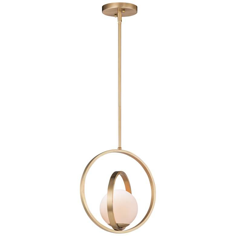"Maxim Coronet 12"" Wide Satin Brass Mini Pendant"