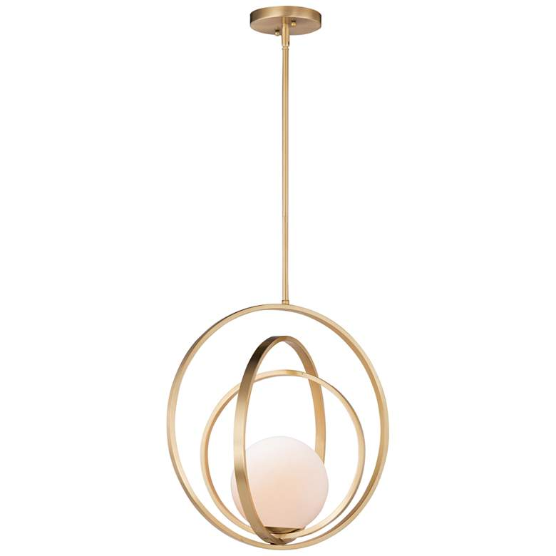 "Maxim Coronet 17 1/2"" Wide Satin Brass Pendant Light"