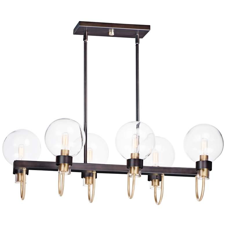 """Bauhaus 31 1/2"""" Wide Bronze Kitchen Island Light Chandelier"""