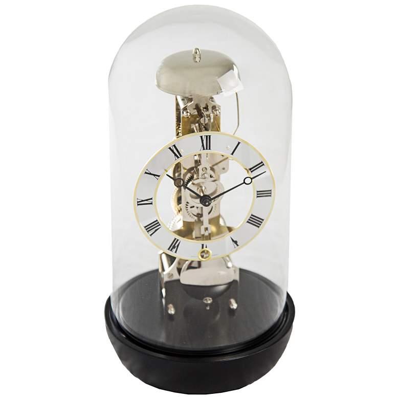 "Hermle Jax Black 12"" High Table Clock"