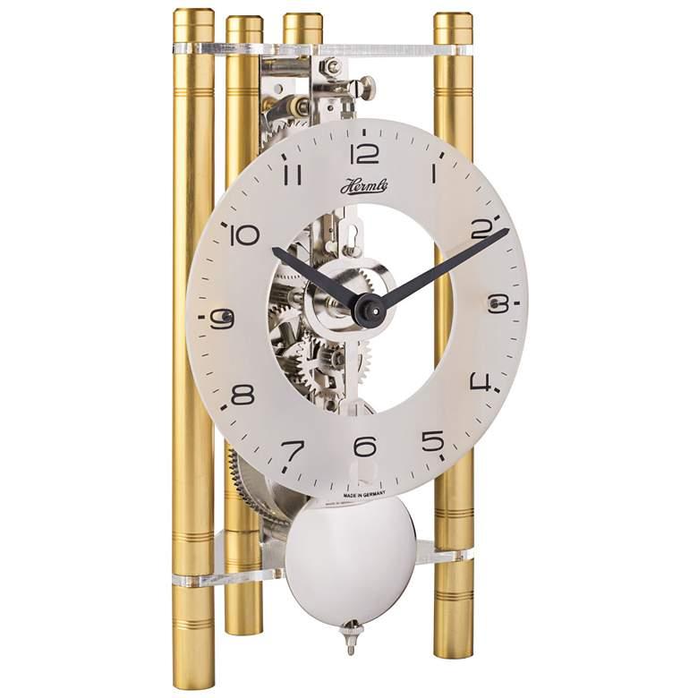 """Hermle Lakin Gold 7 1/2"""" High Triangular Table Clock"""