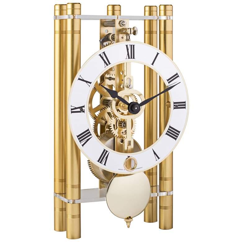 "Hermle Mikal Gold 8"" High Rectangular Table Clock"