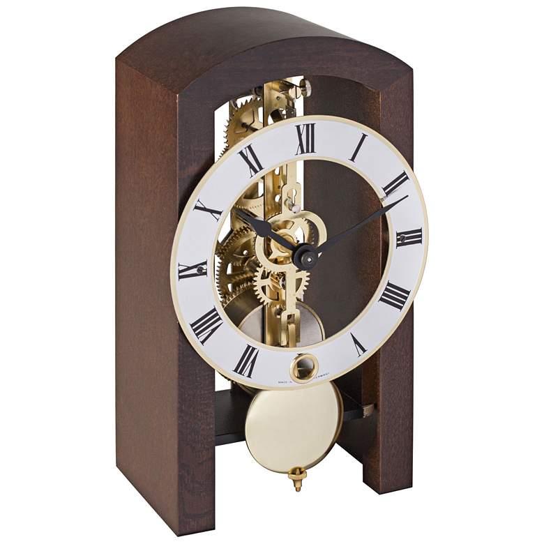 "Patterson 7"" High Walnut Finish Pendulum Table Clock"