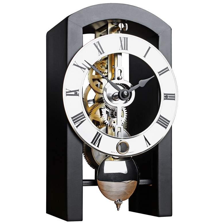 "Patterson 7"" High Black Finish Pendulum Table Clock"