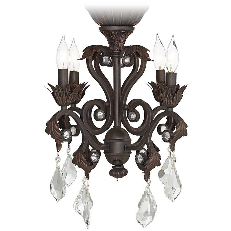 Crystal Beaded Oil-Rubbed Bronze 4-Light LED Light Kit