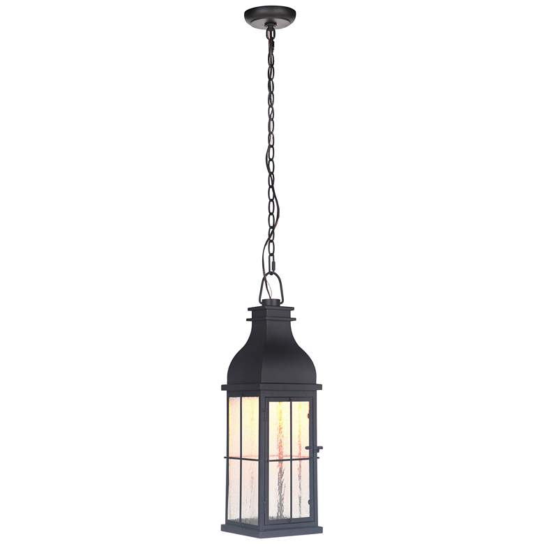 "Vincent 22 1/2"" High Midnight LED Outdoor Hanging Light"