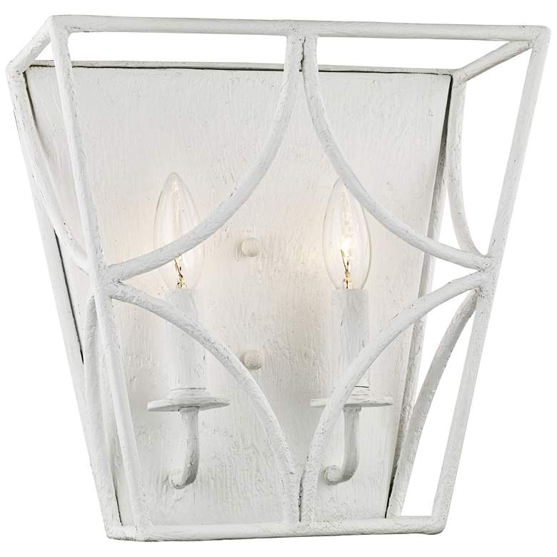 "Hudson Valley Green Point 12"" High White 2-Light Wall Sconce"