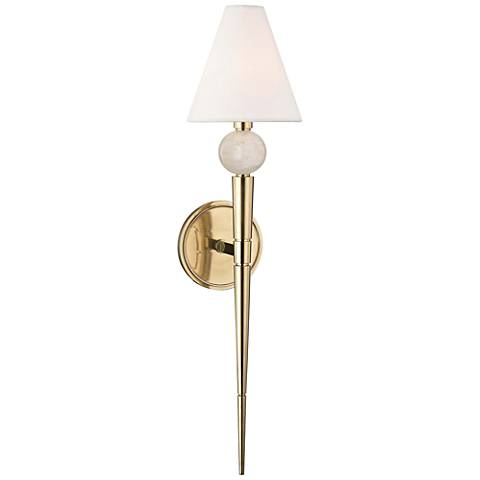 "Hudson Valley Vanessa 25 1/4"" High Aged Brass Wall Sconce"