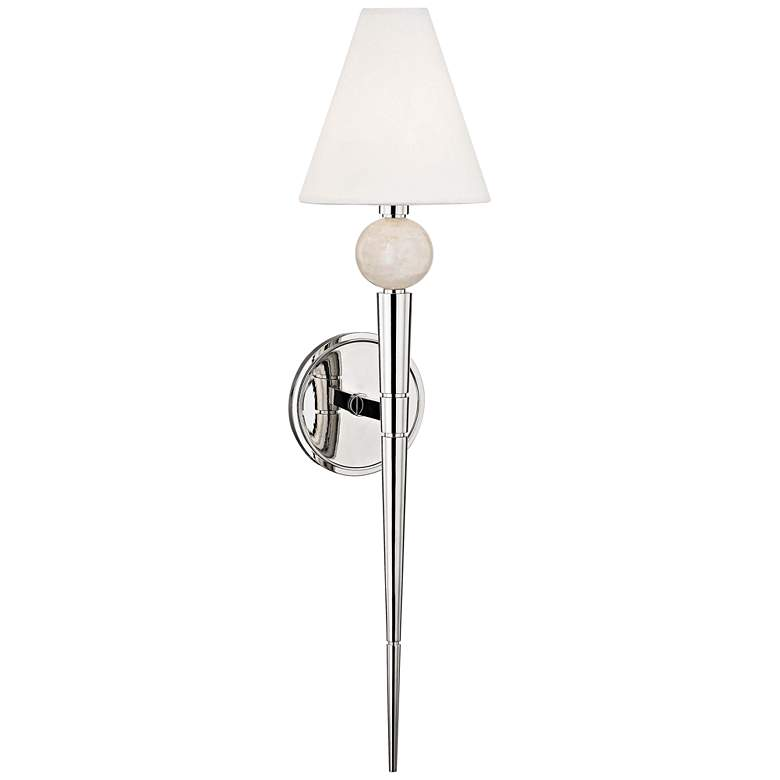 """Hudson Valley Vanessa 25 1/4""""H Polished Nickel Wall Sconce"""