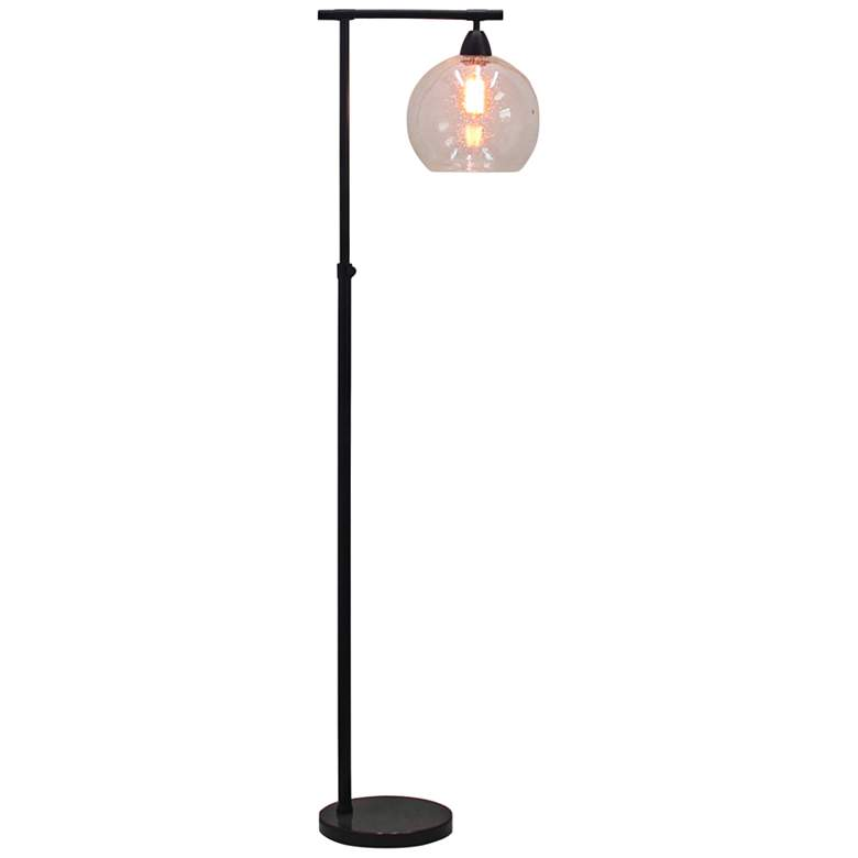 Stationary Downbridge Black Metal Floor Lamp