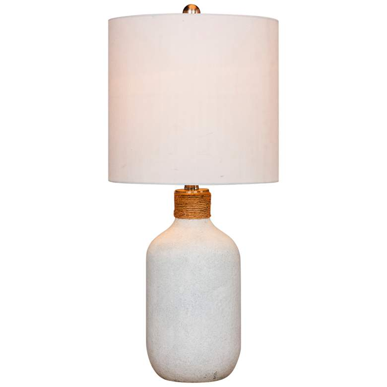 Coastal Bottle Frosted White Glass Table Lamp
