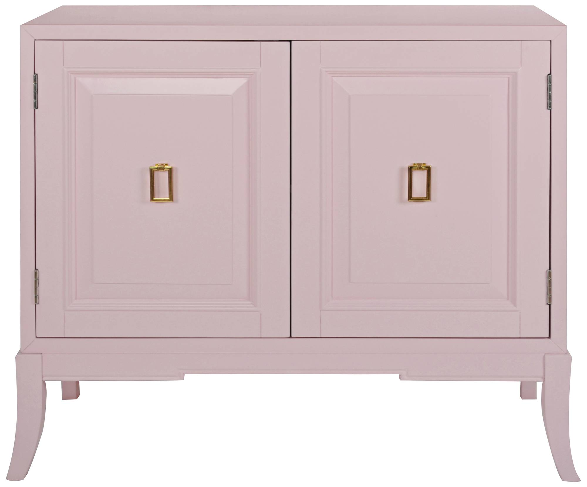 Painted Blush 2-Door Wood Accent Chest