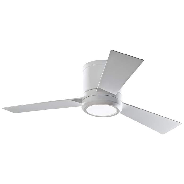 "42"" Clarity II Matte White LED Hugger Ceiling Fan"