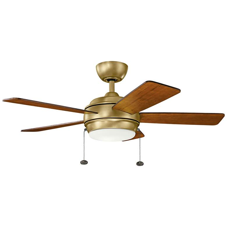 """42"""" Kichler Starkk Natural Brass LED Ceiling Fan"""