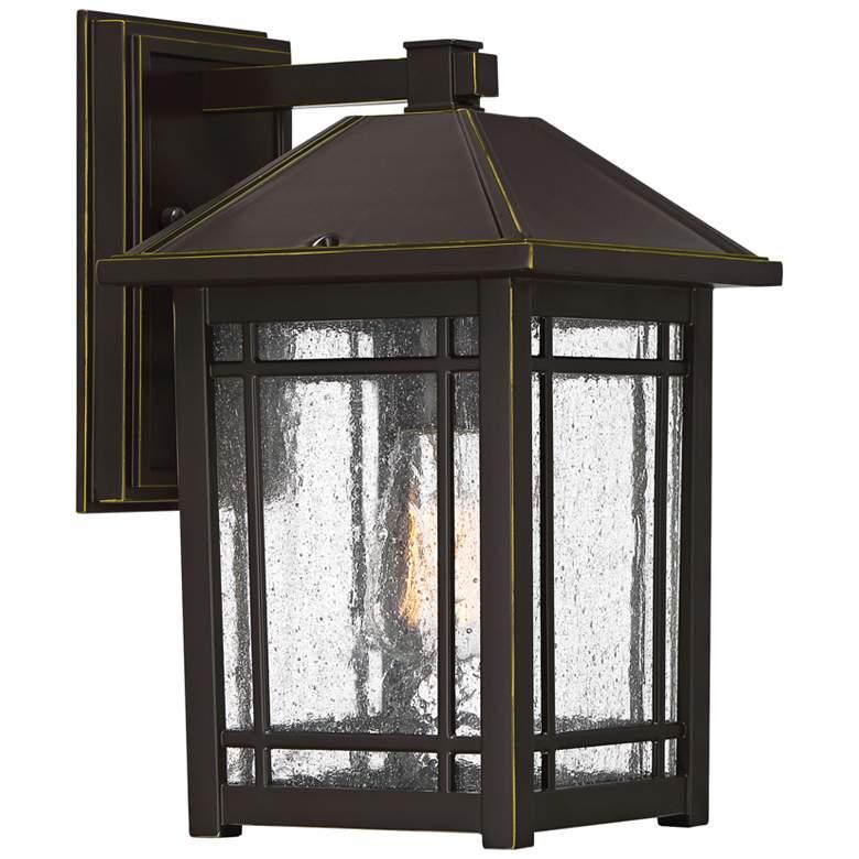 """Quoizel Cedar Point 13""""H Palladian Bronze Outdoor Wall Light"""