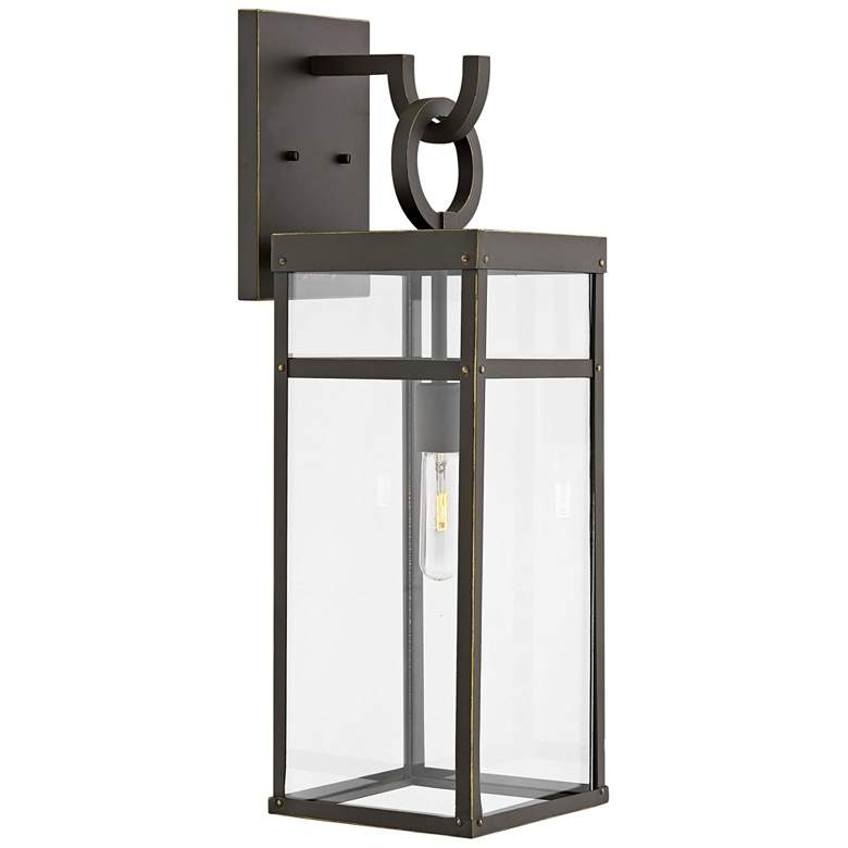 """Hinkley Porter 25"""" High Oil-Rubbed Bronze Outdoor Wall Light"""