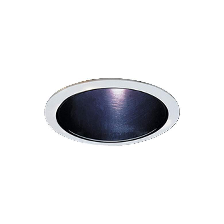 """Elco 5"""" Black with White Ring Reflector Recessed Light Trim"""