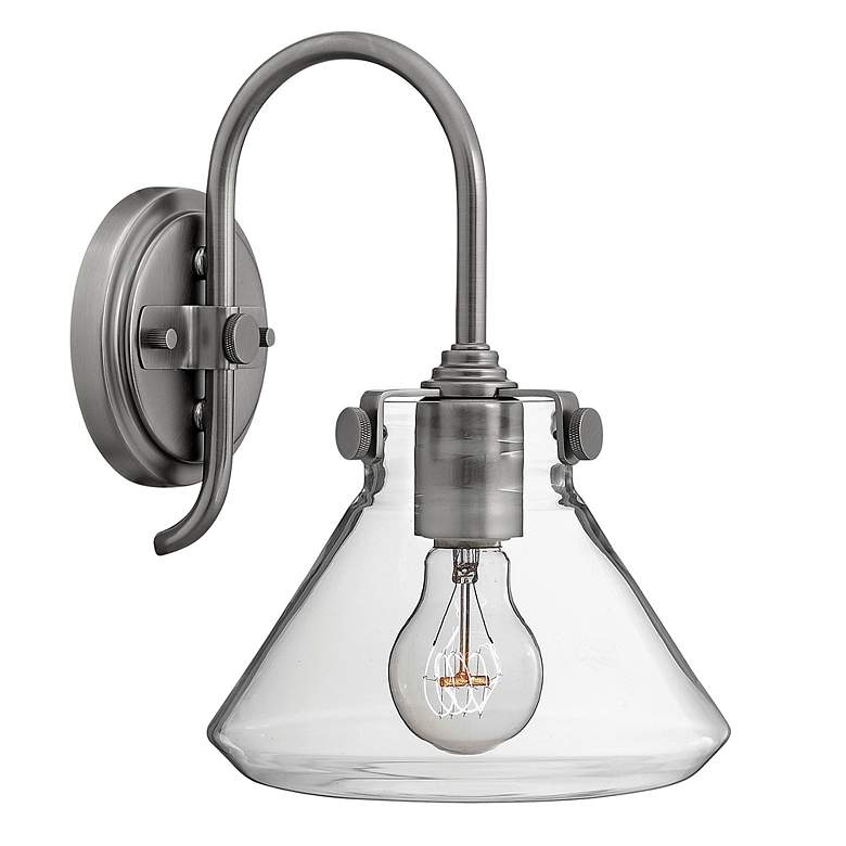 """Hinkley Congress 13"""" High Antique Nickel Wall Sconce"""