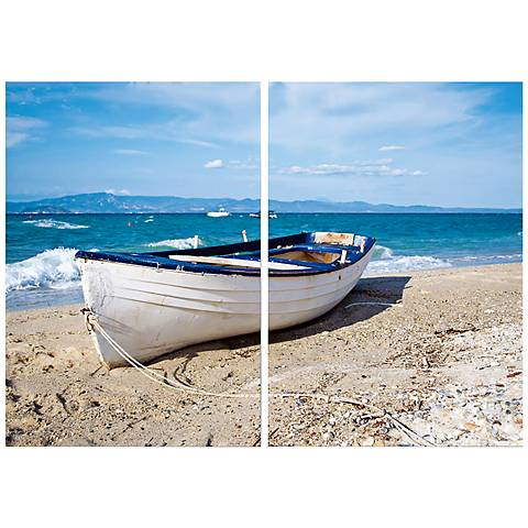 "Set of 2 Leisurely Afternoon 23 3/4"" High Canvas Wall Art"