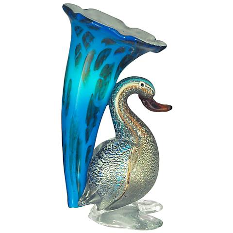 "Dale Tiffany 10 1/4""H Duck Lily Accent Lamp"