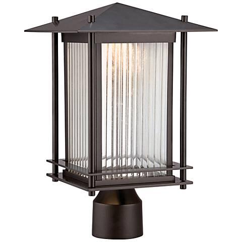 "Hadley 14 1/2"" High Burnished Bronze LED Outdoor Post Light"