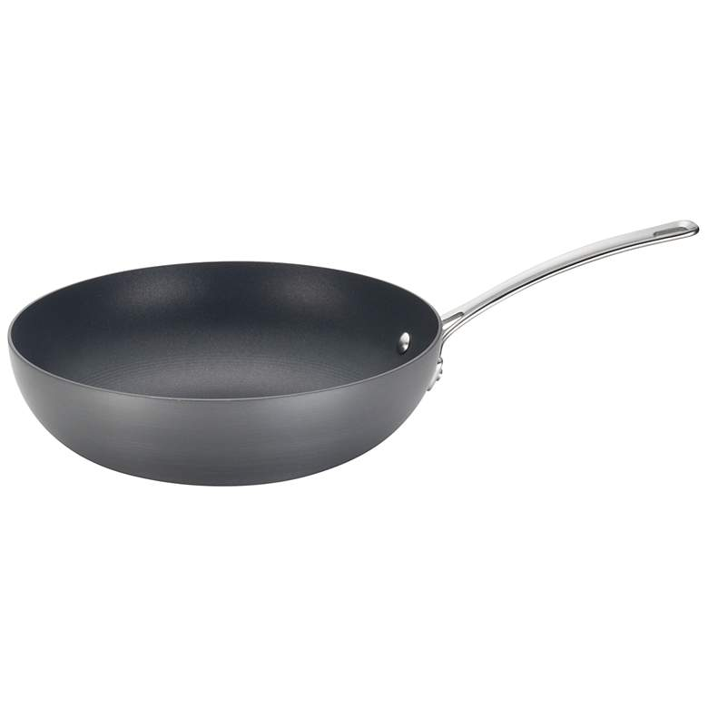 "Circulon 12"" Genesis Hard-Anodized Nonstick Stir Fry Wok Pan"