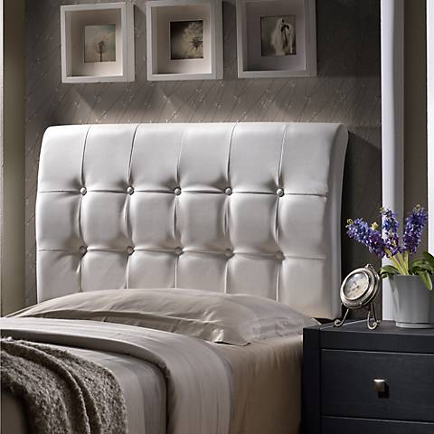 Lusso White Faux Leather Headboards