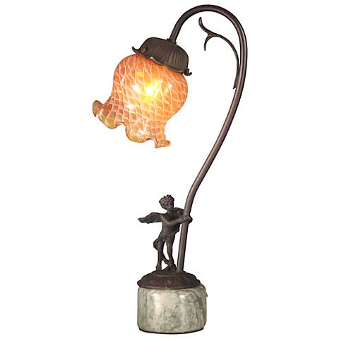 "Dale Tiffany 16 3/4""H Asphodel Tulip Accent Table Lamp"