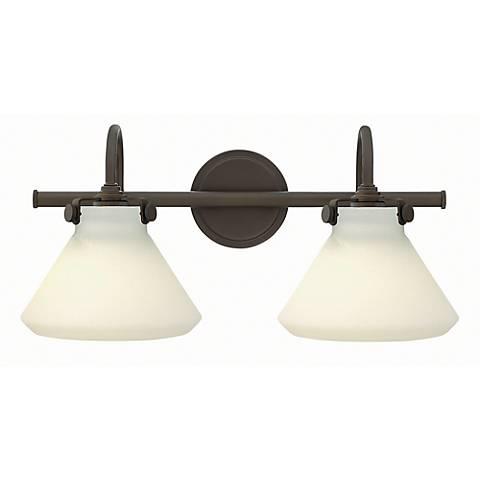 """Congress 19 1/4""""W Oil-Rubbed Bronze 2-Light Bath Light"""