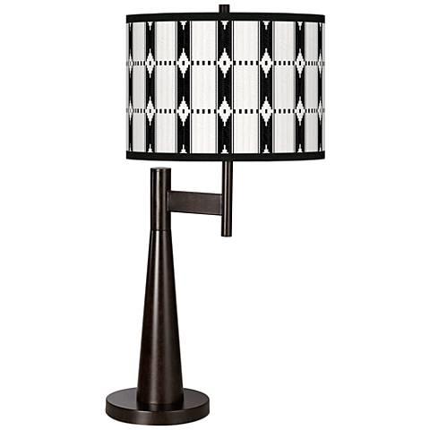 Tribal Weave Giclee Novo Table Lamp
