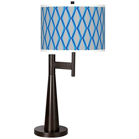 Bleu Matrix Giclee Novo Table Lamp
