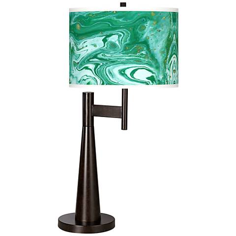 Malachite Giclee Novo Table Lamp