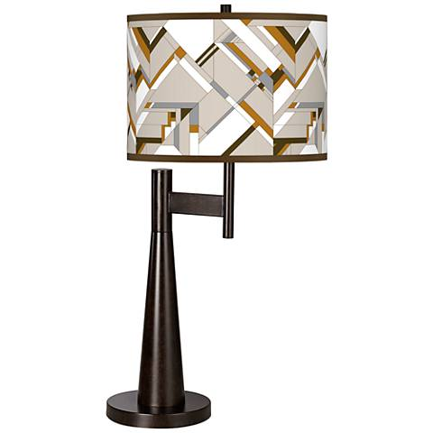 Craftsman Mosaic Giclee Novo Table Lamp