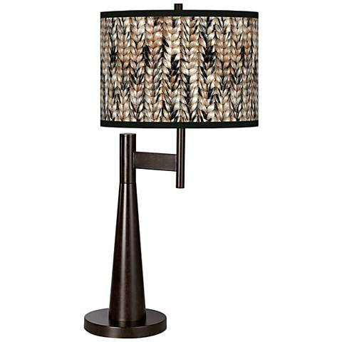 Braided Jute Giclee Novo Table Lamp