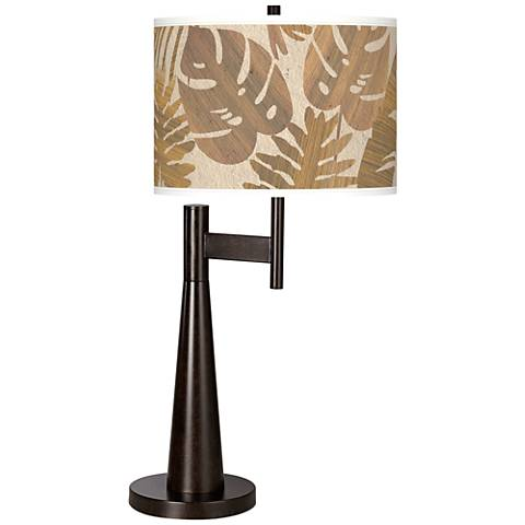 Tropical Woodwork Giclee Novo Table Lamp