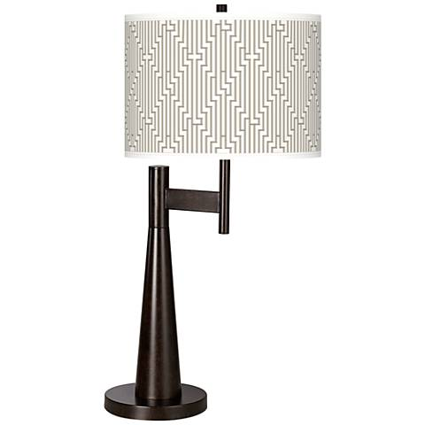 Diamond Maze Giclee Novo Table Lamp
