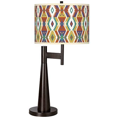 Southwest Bohemian Giclee Novo Table Lamp