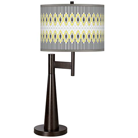Desert Geometric Giclee Novo Table Lamp
