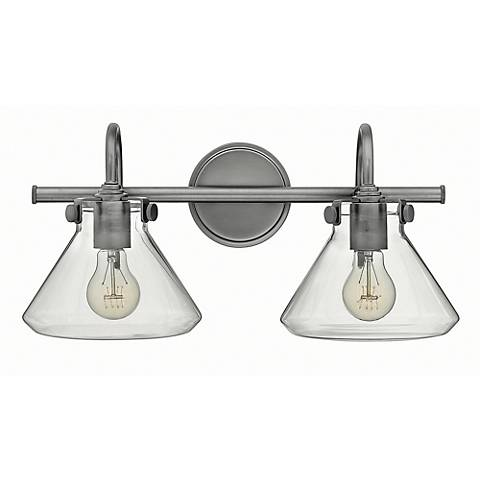 "Hinkley Congress 19 1/4""W Antique Nickel 2-Light Bath Light"