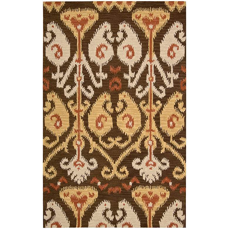 "Nourison Siam SIA02 5'6""x7'5"" Chocolate Wool Area Rug"