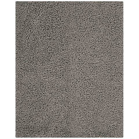 Nourison Zen ZEN01 Gray Shag Area Rug