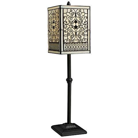Adamson Tiffany Style Bronze Table Lamp