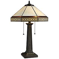 Tiffany table lamps lamps plus stone tiffany style bronze 2 light table lamp aloadofball Image collections