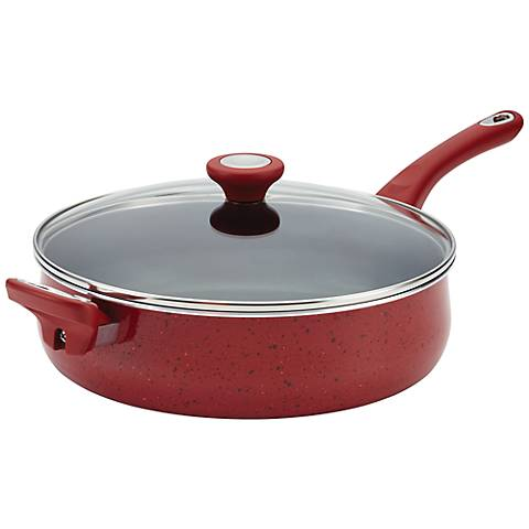 Farberware New Traditions Nonstick 5-Quart Red Jumbo Cooker