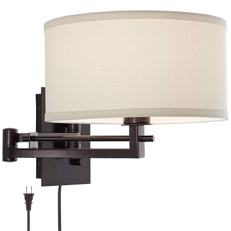 Possini Euro Design Aluno Bronze Swing Arm Wall Lamp