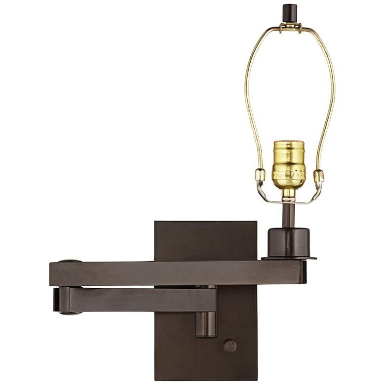 Bronze Plug-in Swing Arm Wall Lamp Base