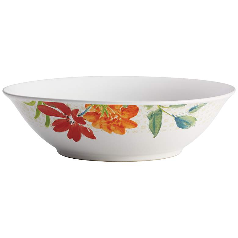 "BonJour Al Fresco Stoneware 10"" White Serving Bowl"