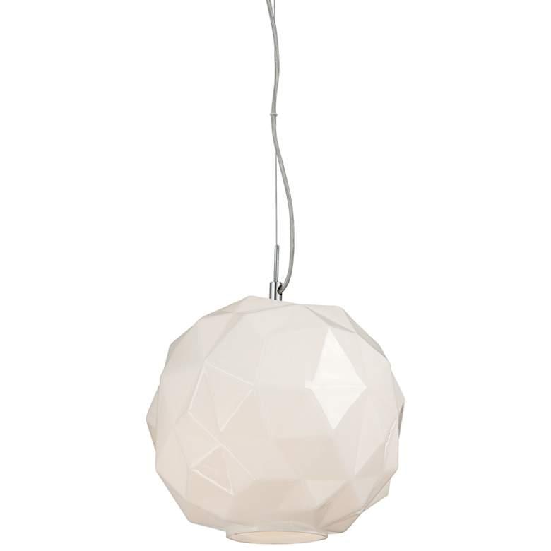 "Eurofase Studio 11 3/4""W White Chiseled Glass Mini Pendant"