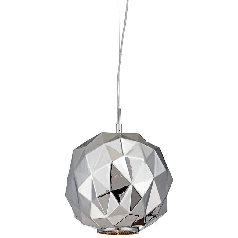"Eurofase Studio 11 3/4""W Chrome Chisel Glass Mini Pendant"