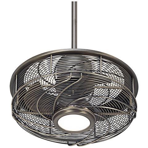"""17"""" Casa Vestige™ Antique Bronze Cage LED Ceiling Fan"""